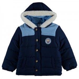 Manchester City Crest Jacket - Navy/Sky (2-7yrs)