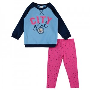 Manchester City Sweat Top and Leggings Set - Baby