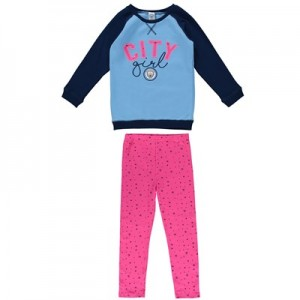 Manchester City Sweat Top and Leggings Set (2-7yrs)