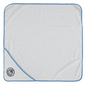 Manchester City Hooded Towel - White/Sky - Baby