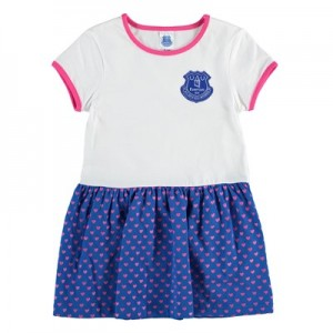 Everton Crest Dress - White/Royal (2-7yrs)