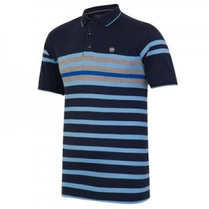Manchester City Terrace Polo - Navy/Sky