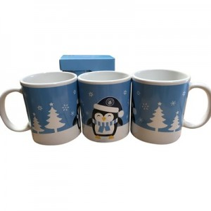 Manchester City Penguin Christmas Mug