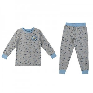 Manchester City Snuggle Fit PJ - Grey/Sky (2-7yrs)