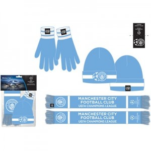 Manchester City UEFA Champions League Winter Set - Sky - Adult