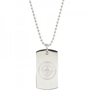 Manchester City Crest Dog Tag & Chain - Stainless Steel