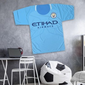 Manchester City 57 x 45 Inch Jersey Banner