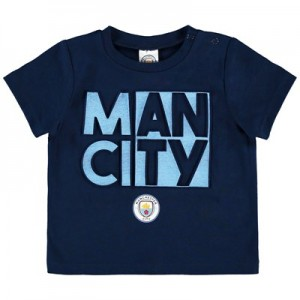 Manchester City Baby Split Man City T Shirt - Navy - Boys