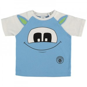 Manchester City Infant Mascot T Shirt - Sky - Unisex