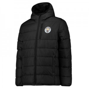 Manchester City Core Padded Jacket - Black - Mens