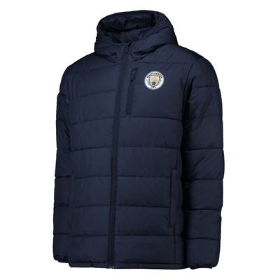 Manchester City Core Padded Jacket - Navy - Mens