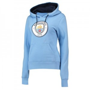 Manchester City Core OTH Large Crest Hoodie - Sky - Womens