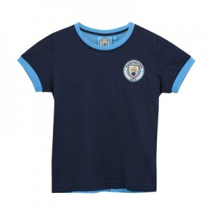Manchester City Core Classic Crest T-shirt - Navy - Infant Boys