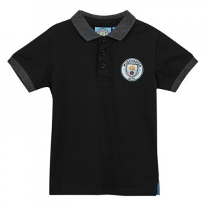 Manchester City Core Contrast Cuff and Collar Polo - Black - Infant Boys