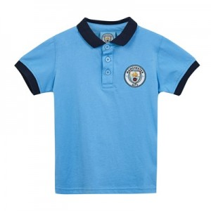 Manchester City Core Contrast Cuff and Collar Polo - Sky - Infant Boys