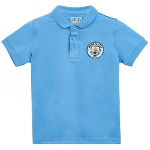 Manchester City Core Contrast stitch Plain Core Polo - Sky - Infant Boys