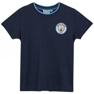 Manchester City Core Basic Tipped Collar T shirt - Navy- Infant Boys