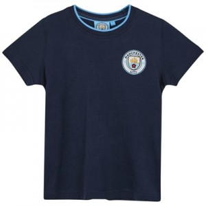 Manchester City Core Basic Tipped Collar T shirt - Navy - Junior Boys