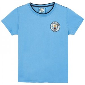 Manchester City Core Basic Tipped Collar T shirt - Sky- Infant Boys
