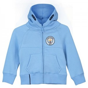 Manchester City Core Zip Thru Hoodie - Sky- Infant Boys