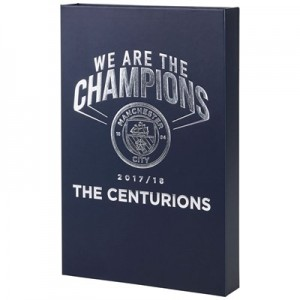Manchester City We Are The Champions Badge Set