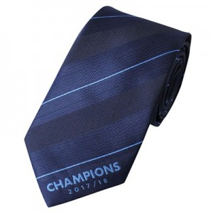 Manchester City 2017-18 Champions Tie - Polyester