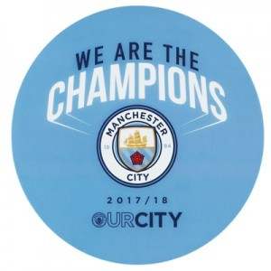 Manchester City We Are The Champions Car Sticker