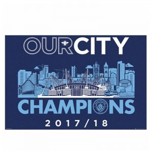 Manchester City Our City Champions Poster