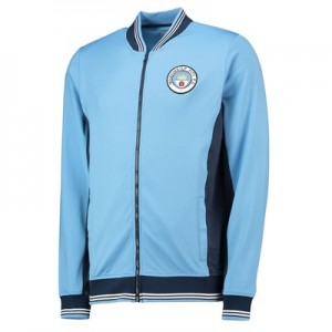 Manchester City Heritage Bomber Track Jacket - Sky - Mens