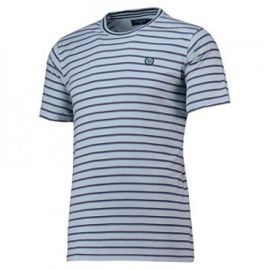 Manchester City Terrace Multi Stripe Tshirt - Sky - Mens