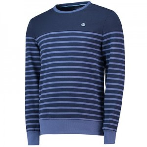 Manchester City Terrace Breton Sweatshirt - Navy - Mens