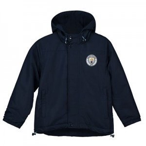 Manchester City Core Fleece Lined Hooded Jacket -Navy - Junior Boys