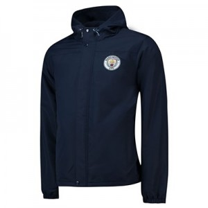 Manchester City Core Fleece Lined Hooded Jacket - Navy- Mens