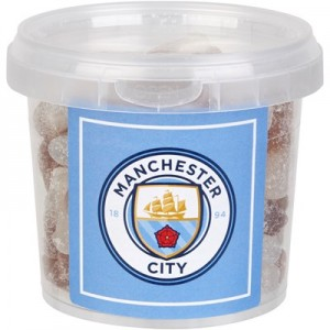 Manchester City Sweet Tub - Fizzy Cola Bottles - 250g