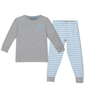 Manchester City Sweat And Jogger Lounge Set - Grey Marl/Sky - Girls