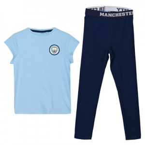 Manchester City Oversized T And Legging Lounge Set - Sky/ Navy - Girls