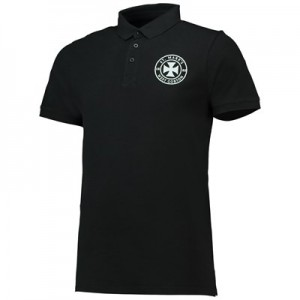 Manchester City St Marks Short Sleeve Polo - Black - Mens