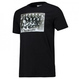 Manchester City St Marks First Team T Shirt - Black - Mens