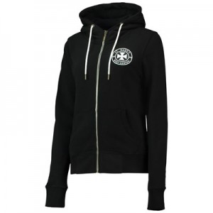 Manchester City St Marks Zip Thru Hoodie - Black - Womens