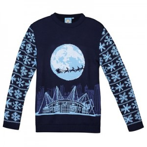 Manchester City Blue Moon Christmas Jumper - Navy - Junior