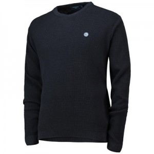 Manchester City Terrace Waffle Knit Jumper - Navy - Mens