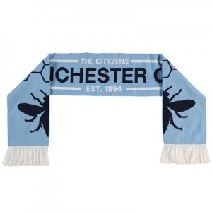 Manchester City Bee Icon Scarf - Sky - Junior