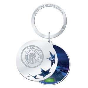 Manchester City UEFA Champions League Keyring