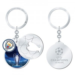 Manchester City UEFA Champions League 3 Piece Keyring