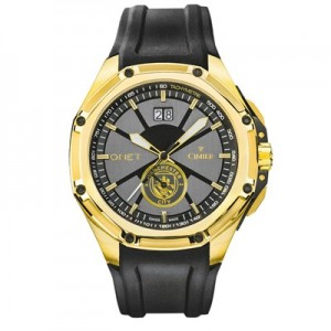 Manchester City QNET Triumph Chronograph Gold Watch