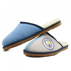 Manchester City Wool Slippers - Blue - Womens