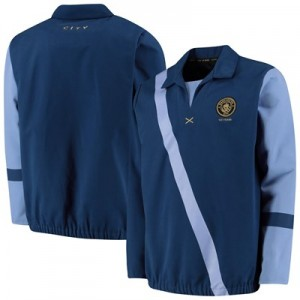 Manchester City 125 Years Three Rivers Drill Top - Navy - Mens