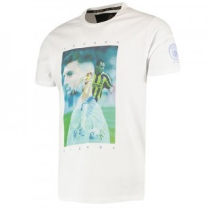 Manchester City Manchester City 125 Years City Heroes Dickov / Aguero T Shirt - Sky - Unisex