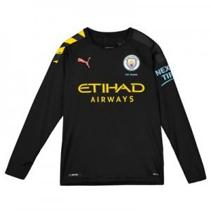 Manchester City Away Shirt 2019-20 - Long Sleeve - Kids