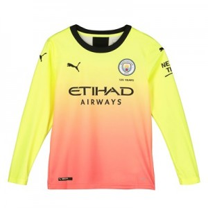 Manchester City Third Shirt 2019-20 - Long Sleeve - Kids